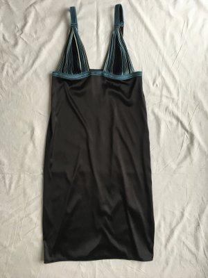 La Perla, Nachthemd, 42 (L), schwarz/blau, Seide/Nylon/Elasthan, neu, € 500,-