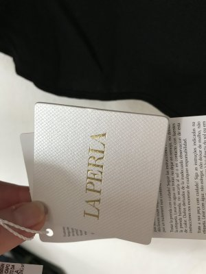 La Perla Panty mit Stickerei, neu, Gr S schwarz