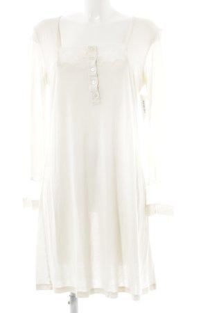 La perla Pyjama wollweiß Lingerie-Look