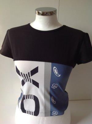 LA PERLA Shirt schwarz/weiss/ blau Gr. 38/40