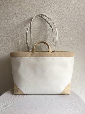 La perla Borsa shopper bianco-sabbia Tessuto misto