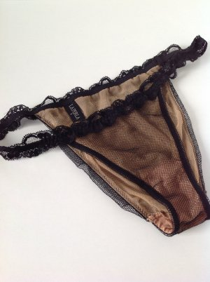 La perla Bottom black-beige polyamide