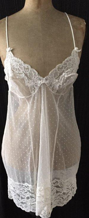 La Perla  Spitzenunterkleid off white
