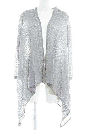 La perla Strick Cardigan hellgrau grafisches Muster Casual-Look