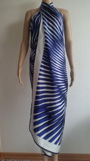 La perla Étole blanc-bleu foncé polyester