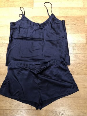 La Perla Wäsche Set Gr. 42- dunkelblau- Seide