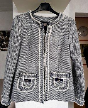 La Redoute Anne Weyburn Blazer Jacke Bouclé-Optik Business Blau-weiß 36
