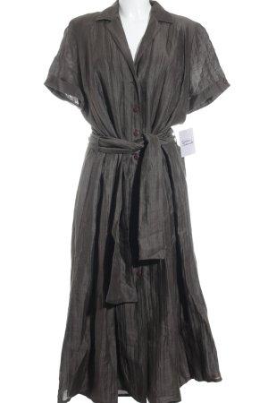 la rochelle Hemdblusenkleid braun 90ies-Stil