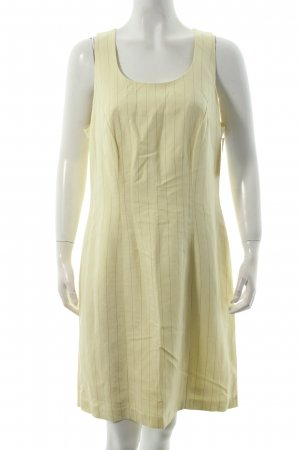 la rochelle Trägerkleid hellgelb-beige Nadelstreifen Retro-Look