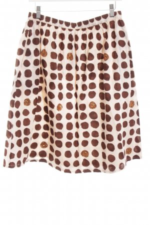 La Salle Skater Skirt white-brown spot pattern simple style