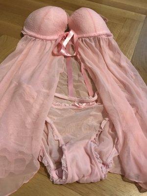 La Senza Negligee mit panty aus London (34C+S)
