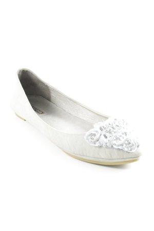 La Strada Ballerinas mit Spitze hellgrau Casual-Look