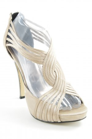 La Strada High Heel Sandaletten creme-silberfarben Party-Look