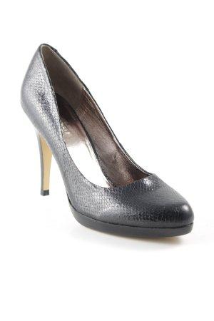 La Strada High Heels schwarz Animalmuster Elegant