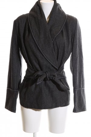 La Strada Short Jacket black flecked casual look