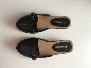 La Strada Heel Pantolettes black-gold-colored