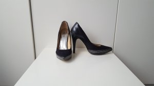 La Strada platform shoes, black suede leather, size 38