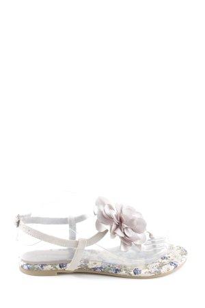 La Strada Sandalo toe-post bianco-blu stampa integrale stile casual