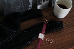 La Tétragone cluse Uhr Armbanduhr lezard Leder Armband rose Gold