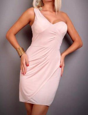 Label- One Shoulder Kleid Beige Neu ! Gr S