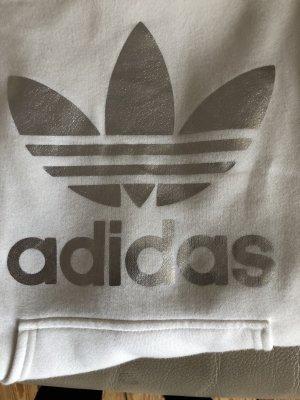 Adidas Originals Felpa con cappuccio bianco-argento