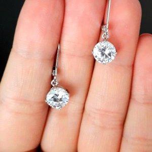 Labor-hergestellt Diamant Ohrringe von Diamonique