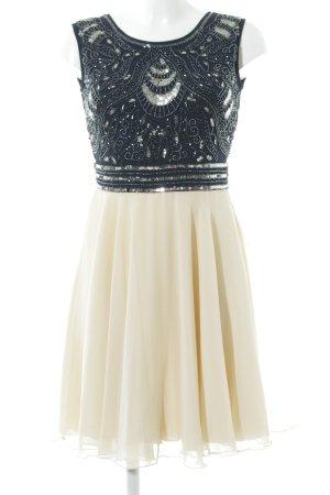 Lace & Beads Chiffonkleid creme-dunkelblau Elegant