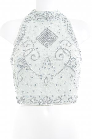 Lace & Beads Cropped Top mint Party-Look