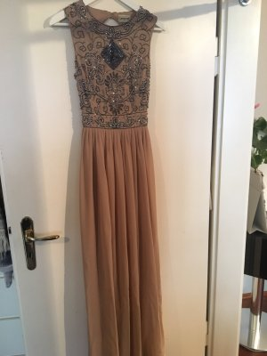Lace & Beads Kleid in taupe