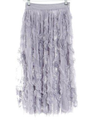 Lace & Beads Falda de tul malva elegante
