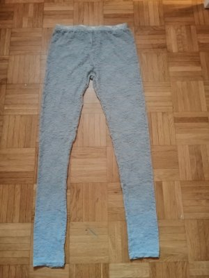 Leggings silver-colored polyester