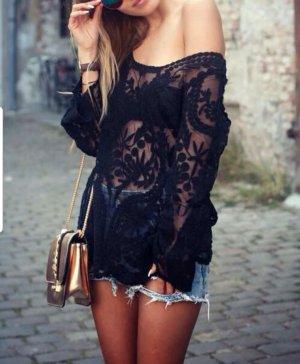 Vanilla Closet Blouse met lange mouwen zwart