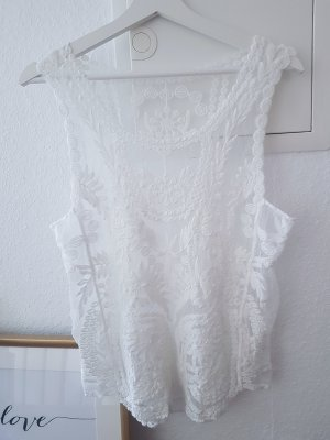 Vanilla Closet Maglia a rete bianco