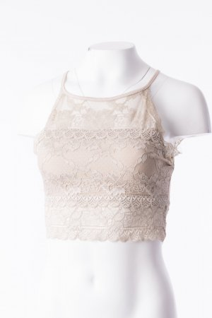 Lace Top Beige One Size NEU