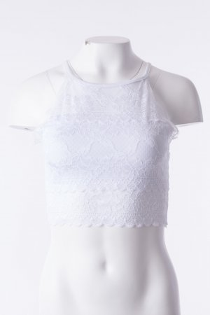 Lace Top Weiß One Size NEU
