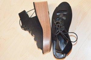 Lace-Up Plateau Sandalen Schuhe Größe 40