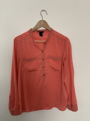 H&M Blouse brillante saumon