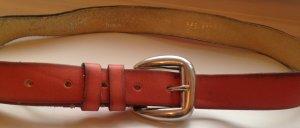 Vanzetti Cinturón de cuero salmón-color plata