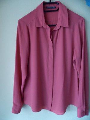 lachsfarbene Bluse mit verdeckter Knopfleiste