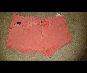 Lachsfarbene Hot Pant Pull & Bear