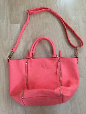 Lachsfarbene Tasche von Hallhuber