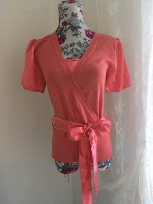 Jersey de manga corta rojo claro-salmón