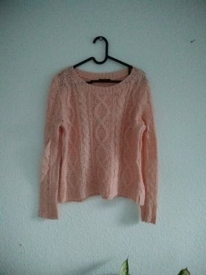 Lachsfarbener Pullover