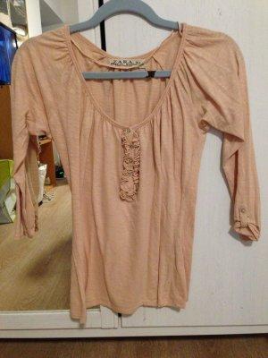 lachsfarbenes 3/4 T-shirt ZARA