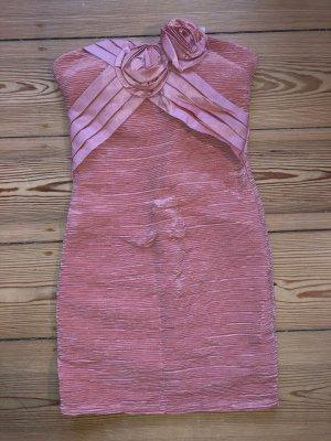 Off the shoulder jurk stoffig roze Polyester