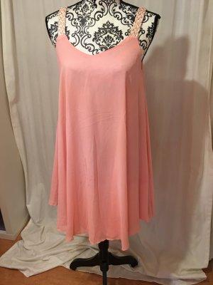 Lachsfarbenes Kleid ganz leichtes Material