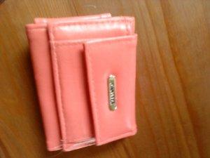 lachsfarbenes Minigeldbörse mit kleinem Schlüsselfach