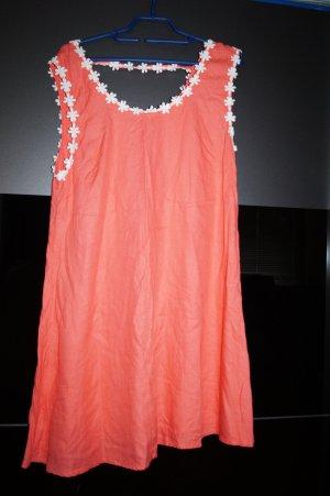 lachsfarbenes Sommer Kleid