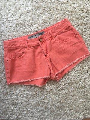 Lachsfarbige Jeansshorts Primark