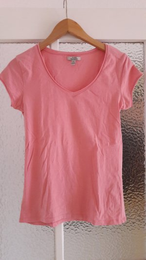 Zara Trafaluc V-hals shirt veelkleurig Katoen